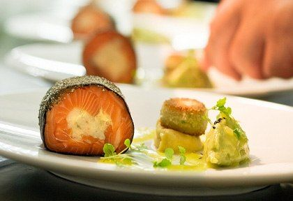 King Salmon with Oyster Croquette & Preserved Lemon Dressing  http://www.regalsalmon.co.nz/recipes/king-salmon-with-oyster-croquette-and-preserved-lemon-dressing