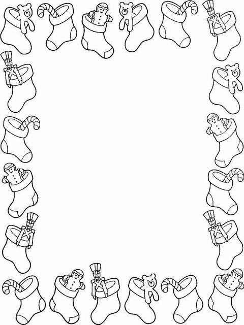 Poesie Natale bambini in cornice - Calzette con doni e caramelle