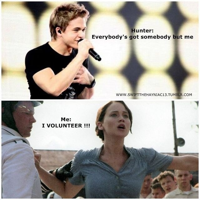 Haha I love the hunger games and hunter hayes, so this is just perf! :)