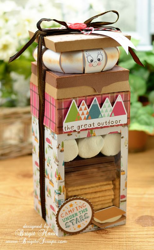 Check out this super cute Smore duo made by Brigit by combining two files, one, the box on the bottom from GIFT BOXES SVG KIT, and two, the Smore Box on top from CAMP FIREFLY SVG KIT.  Check out her blog for a closer look and how she did it!  http://www.brigitsscraps.com/2013/06/smore-than-friend.html