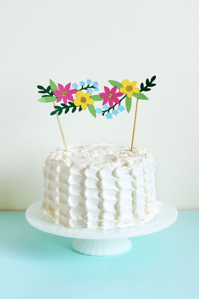 Beyond Candles: 21 DIY Cake Toppers That Steal the Show | Brit + Co