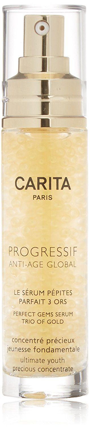 Carita Progressif Anti-Age Global Perfect Gems Serum Trio of Gold, 1.35 Ounce A clinically advanced anti-aging facial serum. Developed with revolutionary CoIDNA Technology to  Read more http://cosmeticcastle.net/carita-progressif-anti-age-global-perfect-gems-serum-trio-of-gold-1-35-ounce/  Visit http://cosmeticcastle.net to read cosmetic reviews
