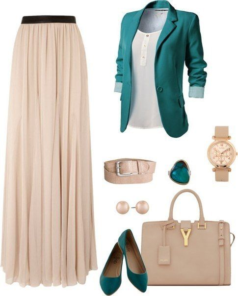 Love the color combo. I already have the skirt and a similar purse that's depicted in the image