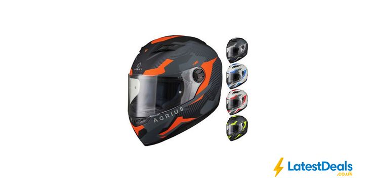 Agrius Rage Tracker Full Face Motorcycle Matt Helmet Motorbike Road Bike Scooter, £23.99 at ebay