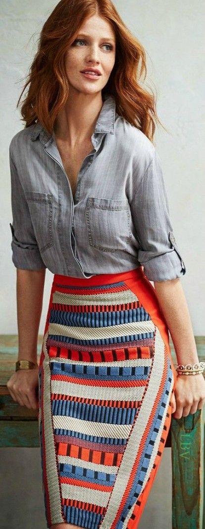 Colorful and stylish | LBV ♥✤ la jupe crayon