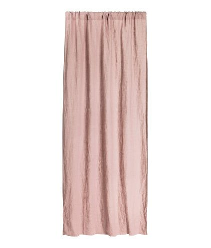Dusky pink. PREMIUM QUALITY. Curtain panel in washed linen with a heavy drape. Wide, cased heading. Hemming tape included. Pack contains one curtain panel.