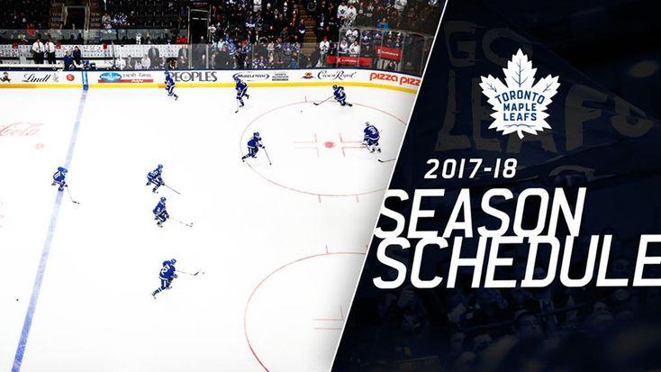 Toronto Maple leafs Schedule 2017-18