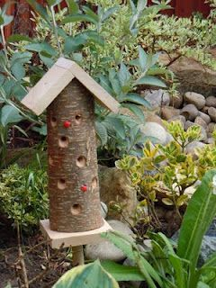 Ladybird House and Feeder #RePin by AT Social Media Marketing - Pinterest Marketing Specialists ATSocialMedia.co.uk