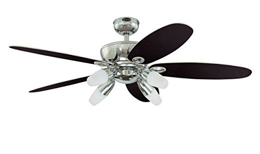 Westinghouse 7255900 Panorama Four-Light 52-Inch Reversible Five-Blade Indoor Ceiling Fan, Chrome with Frosted Glass.    Craftmade Ceiling Fans  Antique Ceiling Fans  Belt Driven Ceiling Fan  Ceiling Fan Mounting Bracket  Nautical Ceiling Fans  Craftmade Fans  Hunter Ceiling Fan Parts  Harbor Breeze Ceiling Fan Parts  Ceiling Vents  Ceiling Fan Reviews  Hunter Douglas Ceiling Fans  Low Profile Ceiling Fan With Light  Ceiling Fan Repair  Fanimation Ceiling Fans