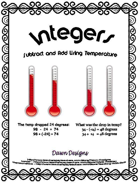 Best 25+ Subtracting integers worksheet ideas on Pinterest