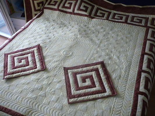 Prikrývka - quiltovanie na ráme / Artmama.sk / Blanket - quilt technique
