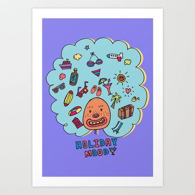 Holiday Mood!  Art Print by PINT GRAPHICS - $17.00