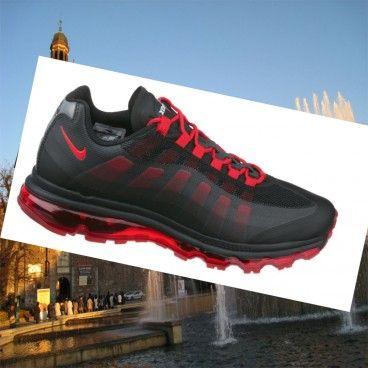 Nike Air Max 95 uomini nero / rosso Cheap Sneakers Italia