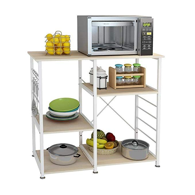 Dlandhome Microwave Cart Stand 35 4 Inches Kitchen Baker S Rack