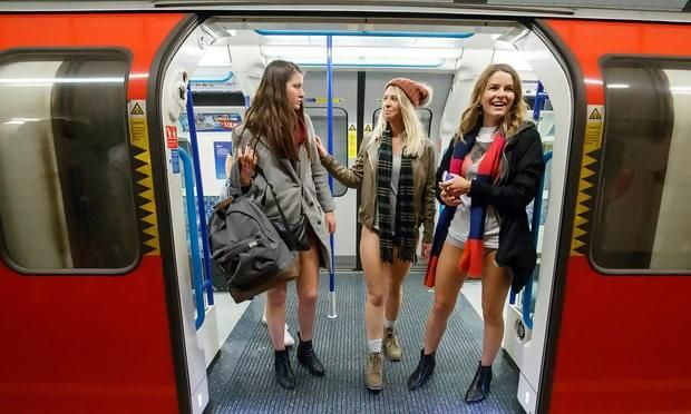 The world is full of meaningless activities but I have always thought No Pants Day held on the London Underground on last Sunday 7th January is in a pointless class all of its own. Londoners joined daring commuters across the world in stripping off and hopping on the Tube. The 17th annual No Pants Subway …