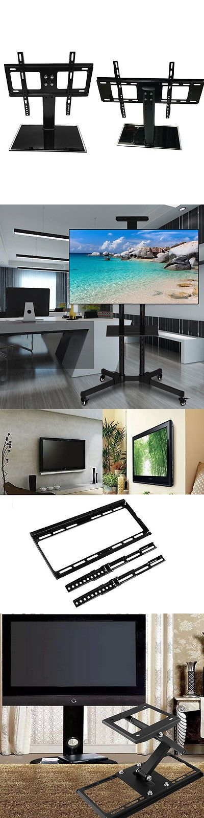 TV Mounts and Brackets: Universal Tabletop Tv Stand Pedestal Base Swivel Wall Mount For 10-65 Tvs Lot BUY IT NOW ONLY: $44.95