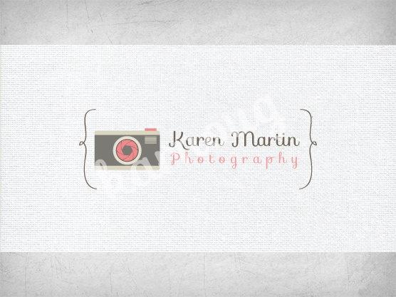 Photography Logo Design - Custom, PreMade. $35.00, via Etsy.  I like the colours.