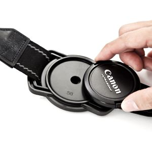 Lens cap holder for your camera strap