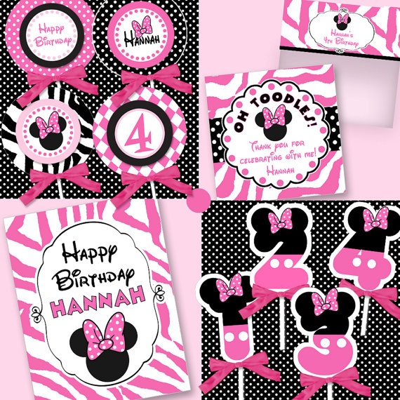Minnie Mouse party printables kit