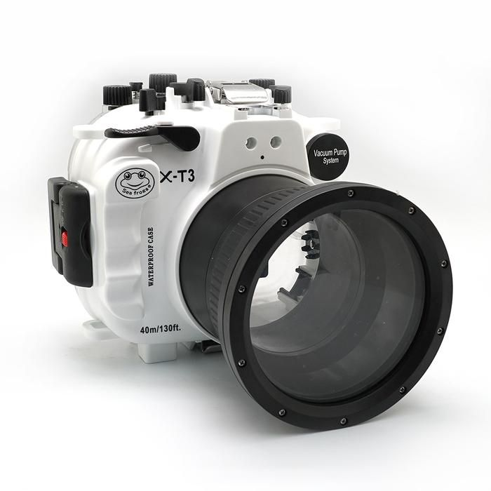 Fujifilm X T3 40m 130ft Underwater Camera Housing Kit Fp 2 White Underwater Camera Housing Underwater Camera Camera
