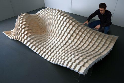 Design, wavy structure.