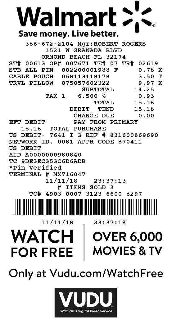 Receipt image is attached | Walmart Returns | Walmart