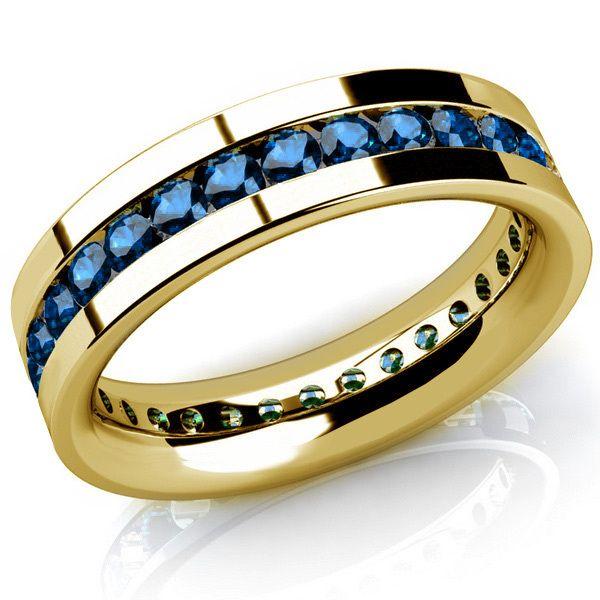 2ct Channel Set Blue Diamond Men S Eternity Wedding Band Ring Mens Eternity Wedding Bands Men Diamond Ring Mens Gold Wedding Band