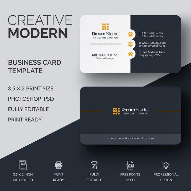 Maquette Professionnelle De Carte De Visite Business Card Mock