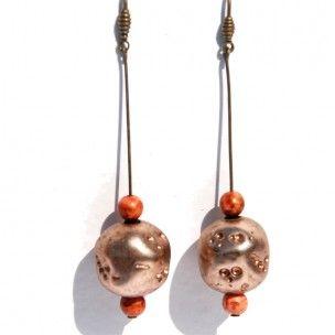 Pendientes Hemen de resina envejecida de Mercê Jo #art #handmade #earrings