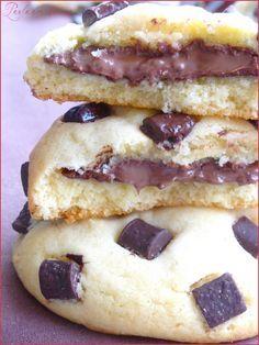 awwwww my god!!! :) wow Cookies coeur fondant Nutella