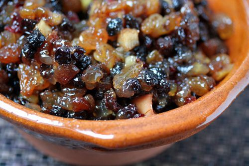 Mincemeat  One quart  You can swap out any finely-diced fruits, like I did, although to be close to authentic, it should be pretty raisin-he...