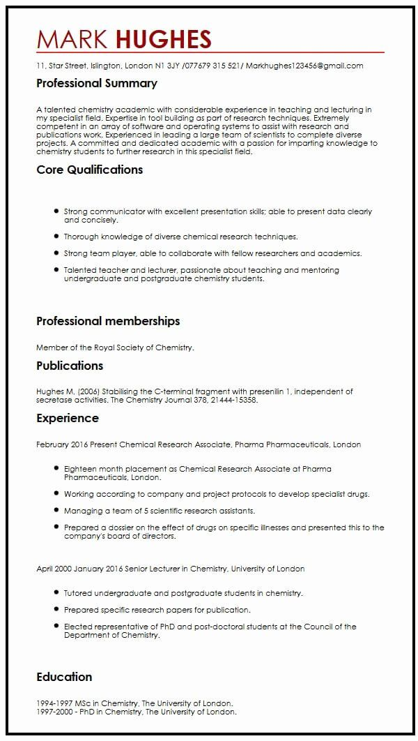 23 Academic Projects In Resume Example In 2020 Resume Examples