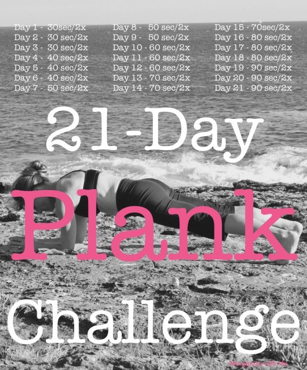 21-DayPlankChallenge - Start this on the first of the month!