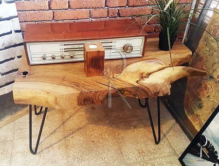 Naturel Walnut Log Coffee Table Doğal Ceviz Kütüğü Orta Sehpa