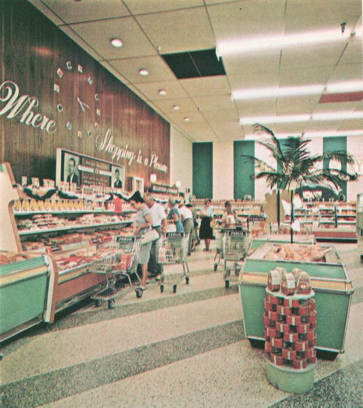 Wow- Publix 1960 - love it!! This store was in Ft. Lauderdale, but omg, they all looked like this, do you remember???♥