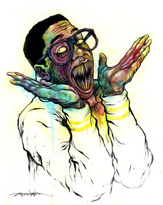 Monster Urkel    BOO!    Art By: ALEX PARDEE