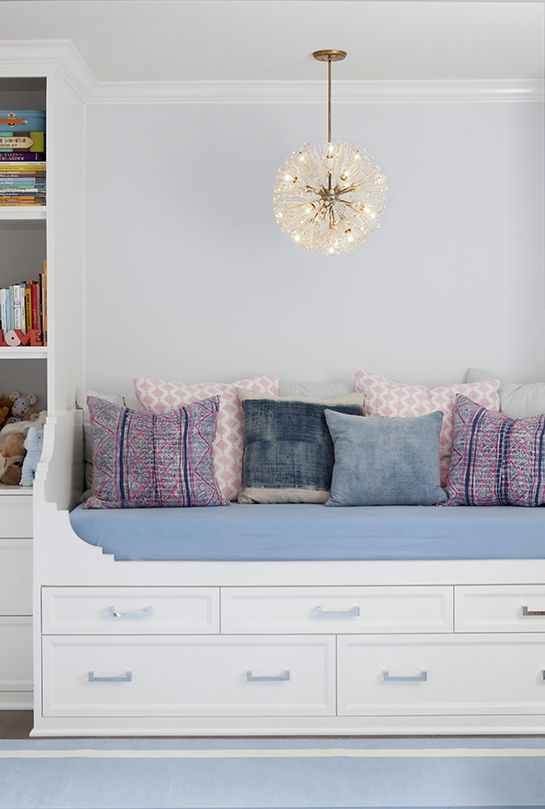 daybed, layered textiles, fab fixture