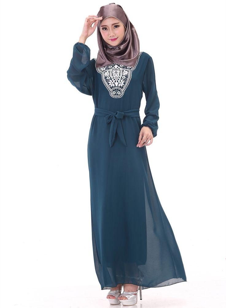 2017 Summer muslim clothing ropa arabe robe musulmane islamic abaya dress Dubai Chiffon djellaba daewoo nexia turkish robe