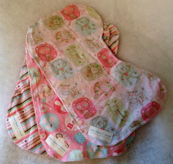 Contoured burp cloths baby girl