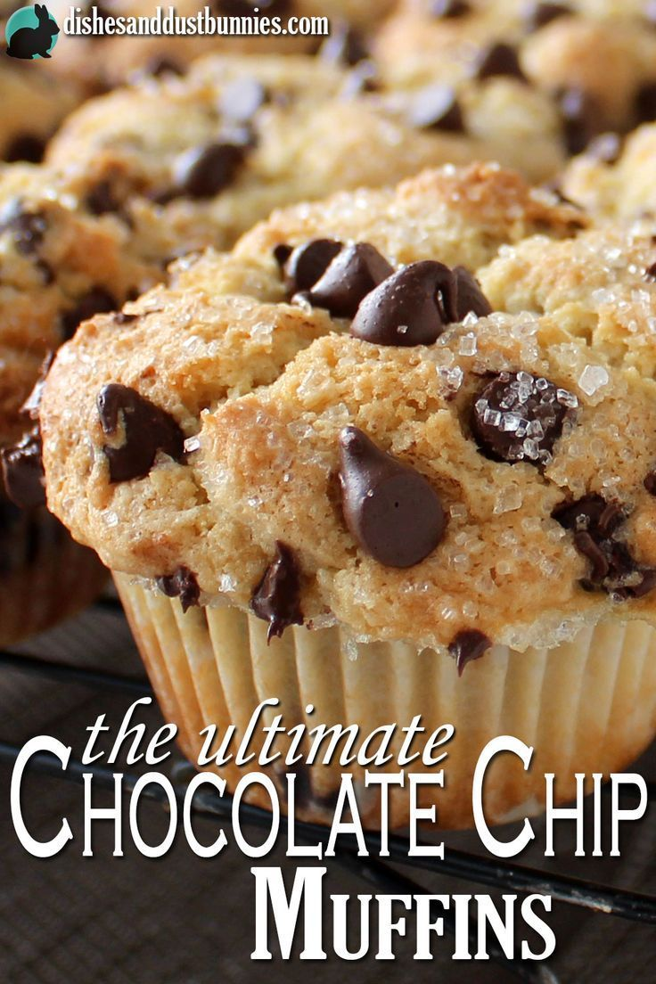 The Ultimate Chocolate Chip Muffins recipe from dishesanddustbunnies.com