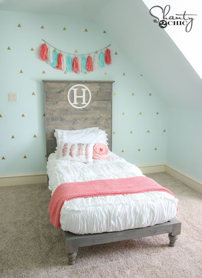 Diy Twin Platform Bed And Headboard Paint Colors Pinterest Bedroom
