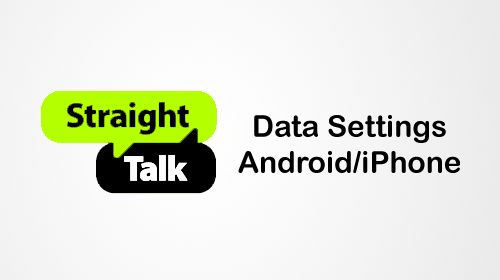 straight talk data settings