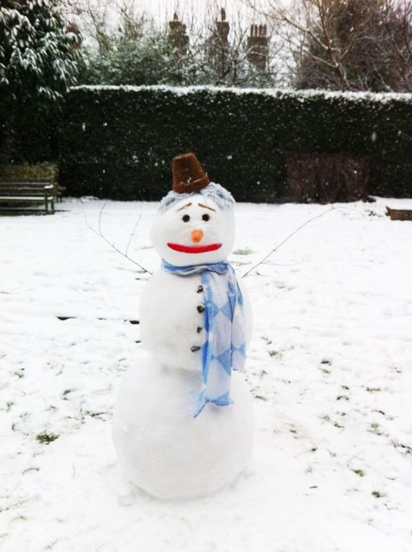 Christmas time in Denmark means snow. This is last years new addition to the family :)