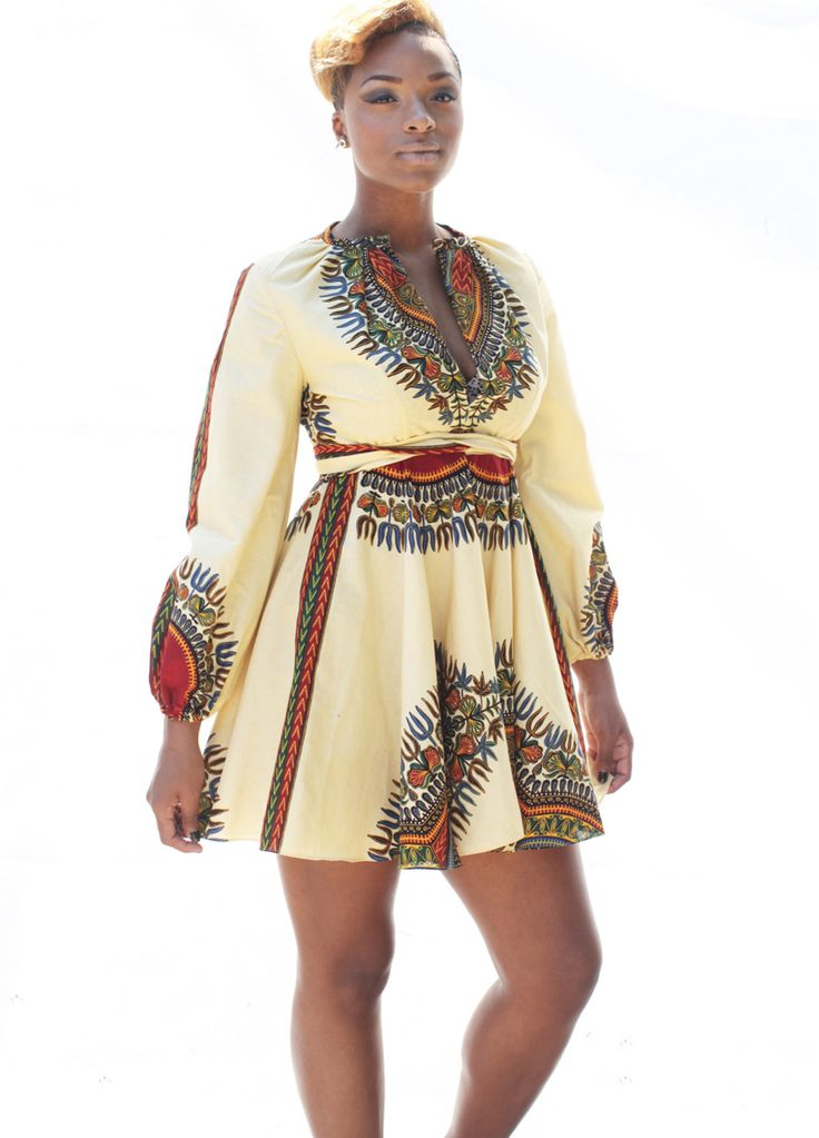 Long Sleeve African Print Belted Plus Size Dress_Print Dress_Dresses_Sexy Lingeire | Cheap Plus Size Lingerie At Wholesale Price | Feelovely.com