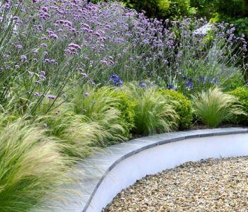 159 best images about border beplanting on pinterest for Ornamental grass border design