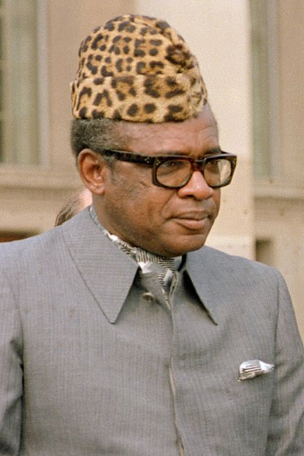 Mobutu     after the elected leader of the Congo was murdered this horrible man ruled for 32 years supported by the US.   Kennedy gave him a plane :(