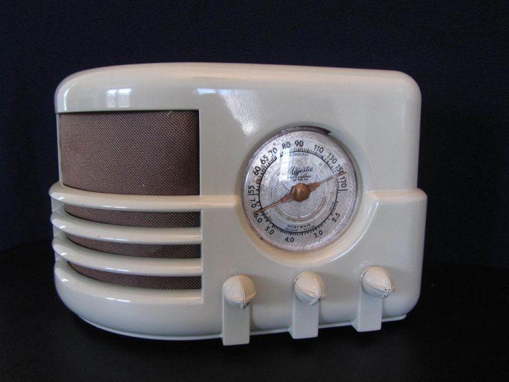 Vintage 193OS Majestic Modernistic Depression Era Old Antique Bakelite Radio | eBay
