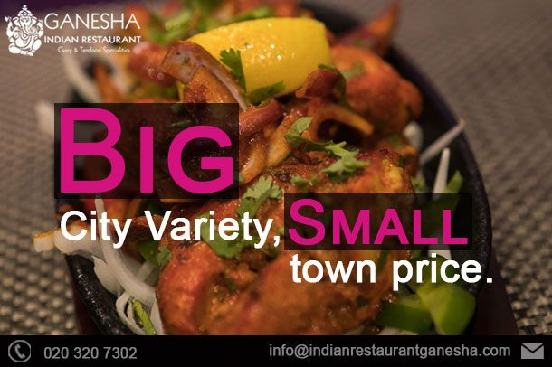 big city variety small town price indianrestaurantganesha taste tasty delicious indianrestaurant food india indian food recipes food restaurant pinterest