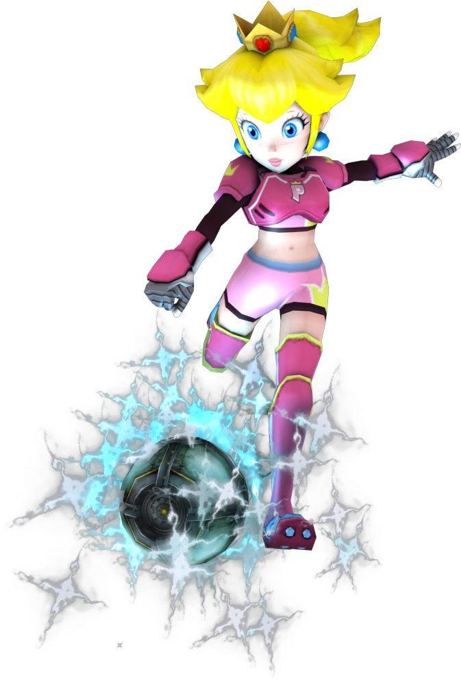 Princess Peach Test render (Mario Strikers Charge) by…