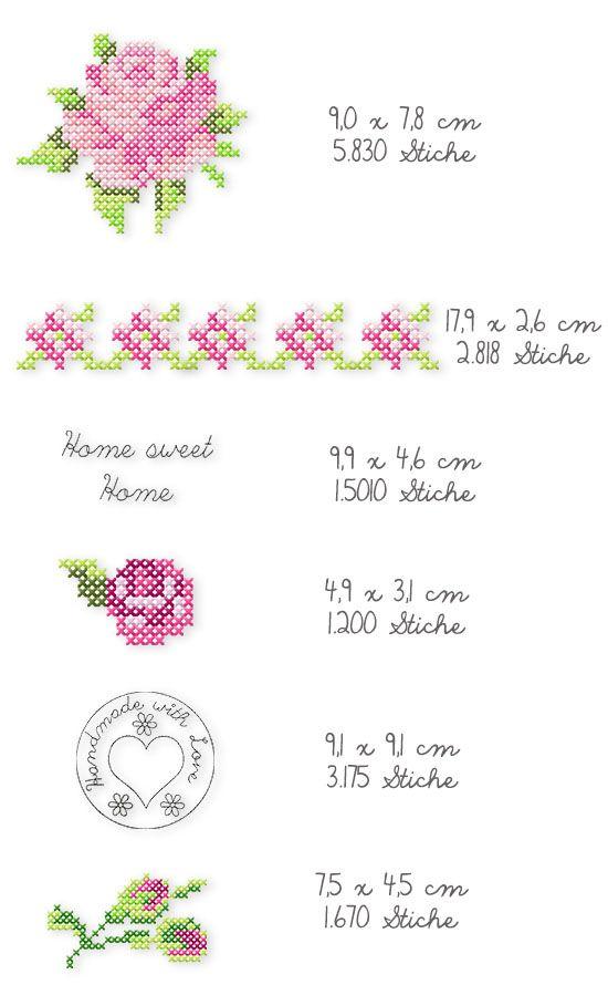Der Stickbär   Designbeispiel: Handmade with Roses i purchased